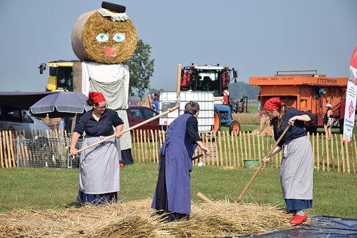 Grain, Women, Tear, Work, Food, Woman, Historical
