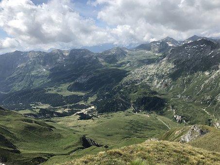 Alpine Route, Alps, Alpine, Adventure, Walk, Sky, Tops