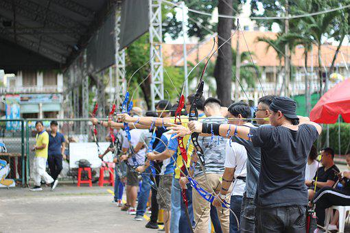 Competition, Archery, Numbness, Many People, Outdoors