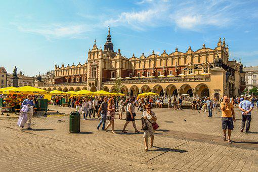 Krakow, Poland, The Sukiennice, Architecture, History