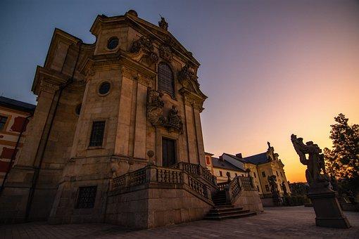 Kuks, Evening, Sunset, Baroque, Statue, Romantic