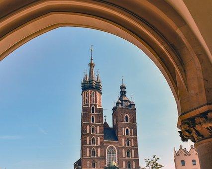 Church, Belfry, Arch, Architecture, Religion
