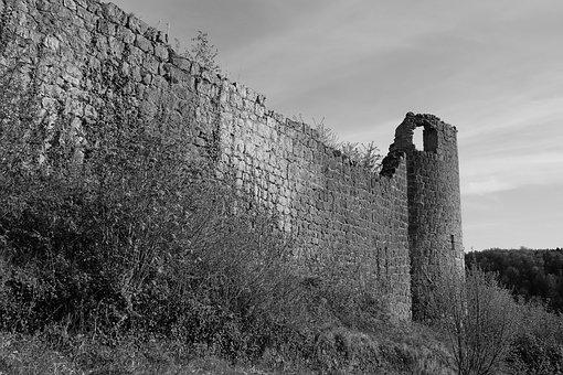 Castle, Wall, Architecture, Historically