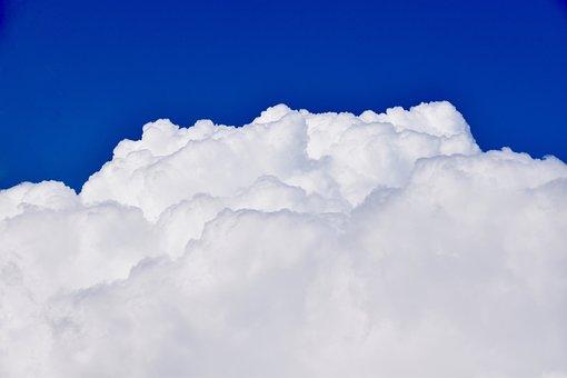 Clouds, White Clouds, Cumulus, Cumuloninbus