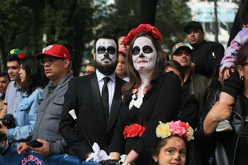 Skull, Flowers, Mexico City, Dia De Muertos, Boyfriend
