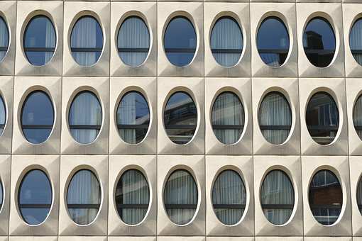 Facade, Building, Hotel, Architecture, Window, Oval