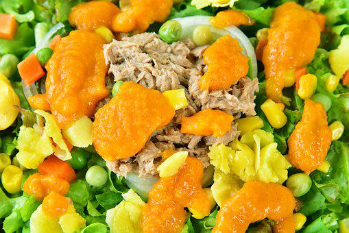 Food, Meal, Salad, Tuna Salad, Vegetable, Delicious