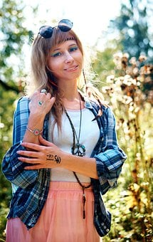 Hippie, Field, Summer, 1960s, Pacifism, Peacefulness