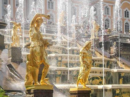 Fountain, Statue, Architecture, Historically, Tourism