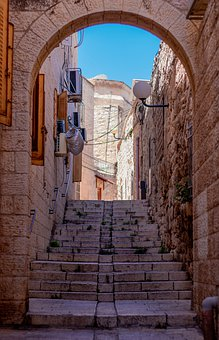 Alley, Jerusalem, Israel, Bible, Holy, Jewish