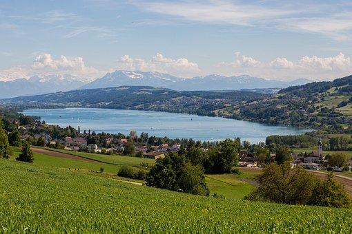Lake Hallwil, Seengen, Aargau, Switzerland, Lake