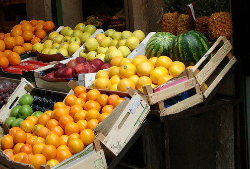 Fruit, Fruit Stand, Grocery Store, Fruits, Market