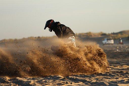 Sand, Motorcyclist, Motorcycle, Motocross, Sport, Bike
