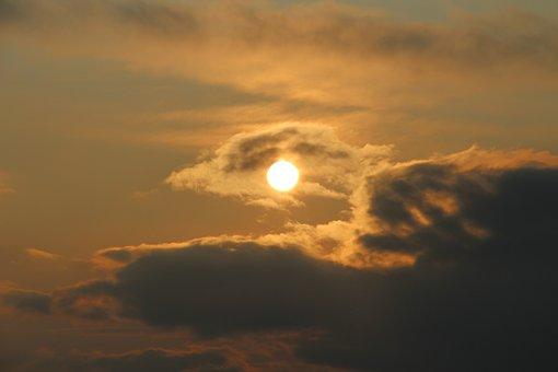 Sun, Clouds, Sky, Mood, Nature, Of Course, Sunrise
