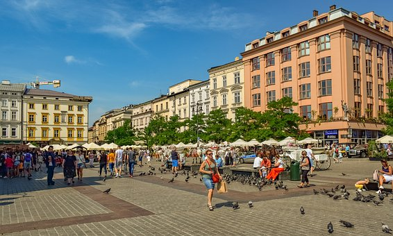 Square, Buildings, Architecture, City, Urban, Old