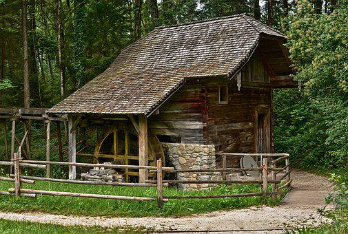Watermill, Building, Old, Open Air Museum, Austria
