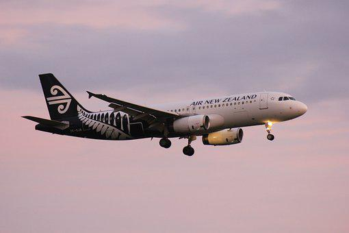 Air Nz, Air New Zealand, Plane Landing, Aeroplane