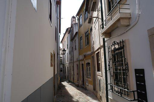 Coimbra, Portugal, Alley, Street, History, City