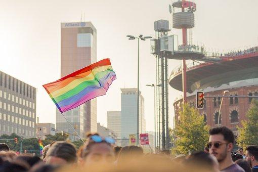 Barcelona, Flag, Pride, Gay, Lgbt, Lgtbi, Bcn, Day