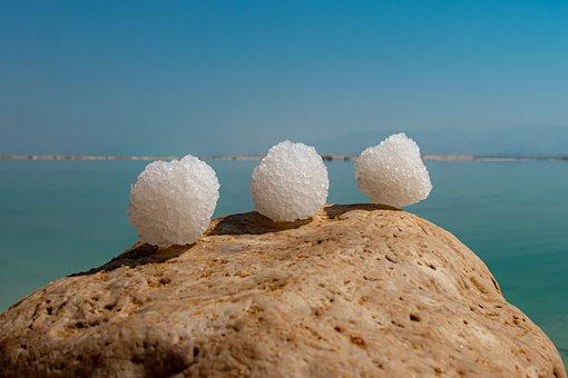 Salt, Sea, Dead Sea, Relaxation, Blue, Sky, Nature
