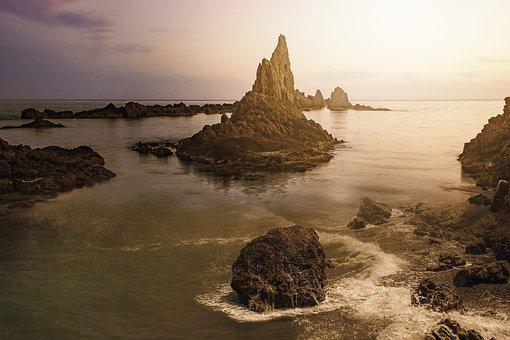 Landscape, Fantasy Landscape, Nature, Ocean, Rocks