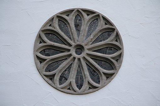 Church, Church Window, Glass, Mosaic, Round, Flower
