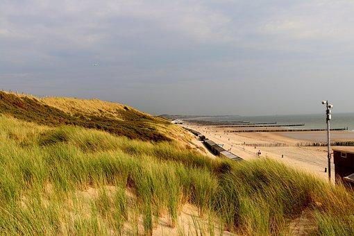 Coast, North Sea, Beach, Sea, Dunes, Nature, Sky