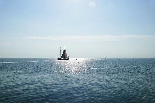 Boat, Sailing Ship, Wadden Sea, Sea, Sailing Boat, Ship
