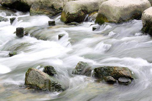 Rock, Water, Water Flow, The Creek, Stepping Stone