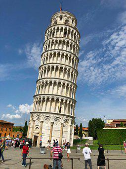 Italy, Pisa, Building, Tower, Travel
