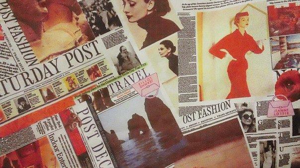 Vintage, Collage, Design, Print, Pattern, Style, Ads