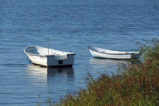 Boats, Rowing Boats, Water, Lake, Rest, Nature