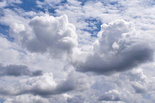 Clouds, White Clouds, Cumulus, Meteorology, Weather