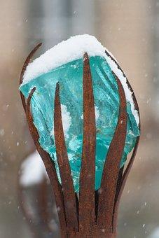 Crystal, Sculpture, Art, Winter, Ice, Cold, Frozen