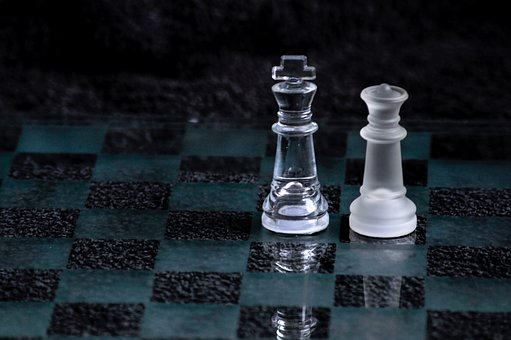 Chess, Game, Pieces, Game Pieces, Glass, Board Game