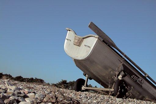 Dinghy, Beach, Bay, Boat, Seawater, Sea, Water, Veins