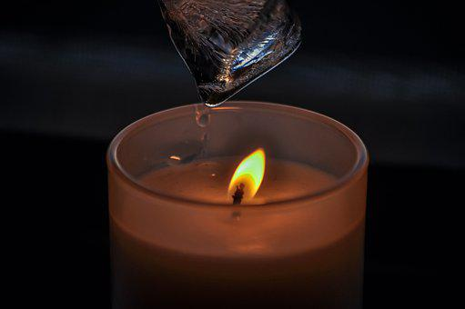 Opposites, Fire, Candle, Ice, Water, Flame, Droplet