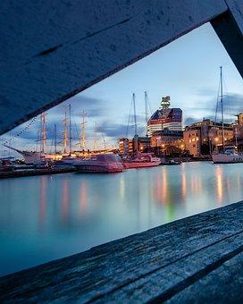 Small Boom, Lillabommen, Gothenburg, Water, Port, Boats