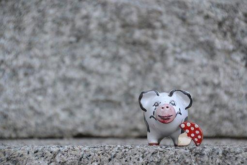 Pig, Lucky Pig, Ceramic, Luck, Lucky Charm, Piglet