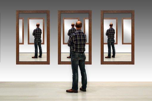 Man, Move, Mirror, Mirror Image, Repetition, Mockup