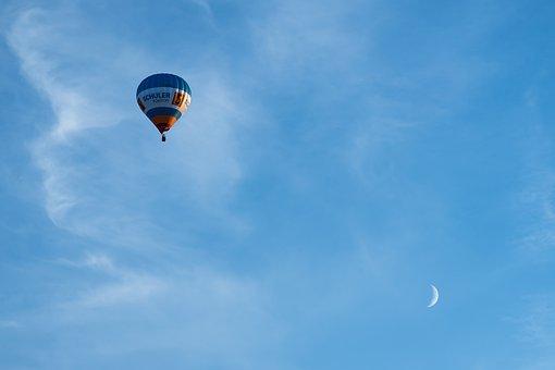 Balloon, Sky, Hot Air Balloon, Moon