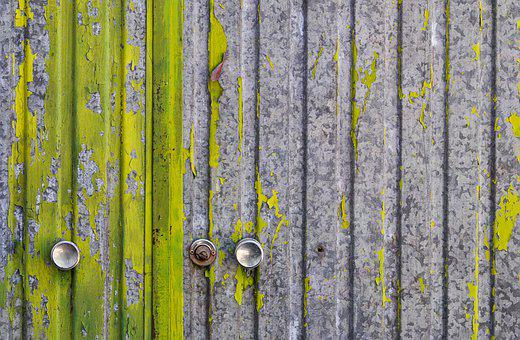 Door, Green, Paint, Peeling, Peeling Paint, Old