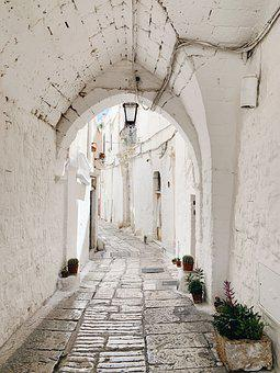 Ostuni, Puglia, Italy, Architecture, Alley, Old, City
