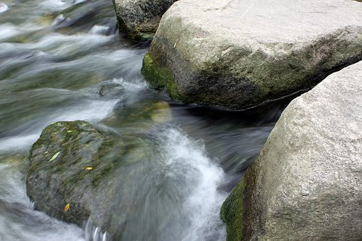 Streams, Rock, Water Flow, Water, The Creek, Landscape