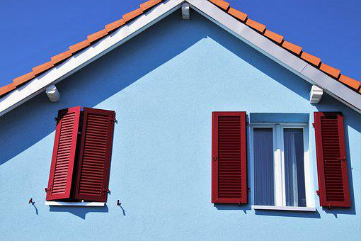 Shutters, The Roof Of The, Facade, Plaster, Sunny, Day