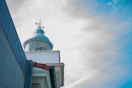 Lighthouse, Sky, Sea, Clouds, Summer, Costa