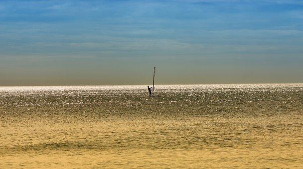 Ocean, Sky, Sailboard, Sea, Beach, Water, Mood, Boat