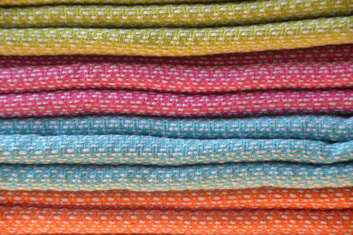 Towels, Colorful, Color, Terry, Terry Cloth Fabric