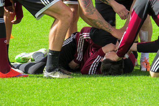 Sport, Football, Football Pitch, Training, Injury, Rush