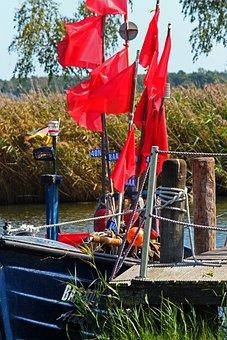 Fishing Boat, Fishing, Fisherman, Water, Lake, Boat